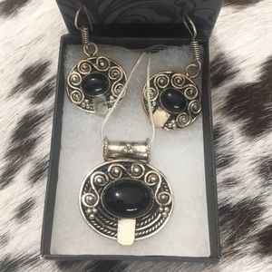 Jewelry - Black Onyx Necklace & Earring Set